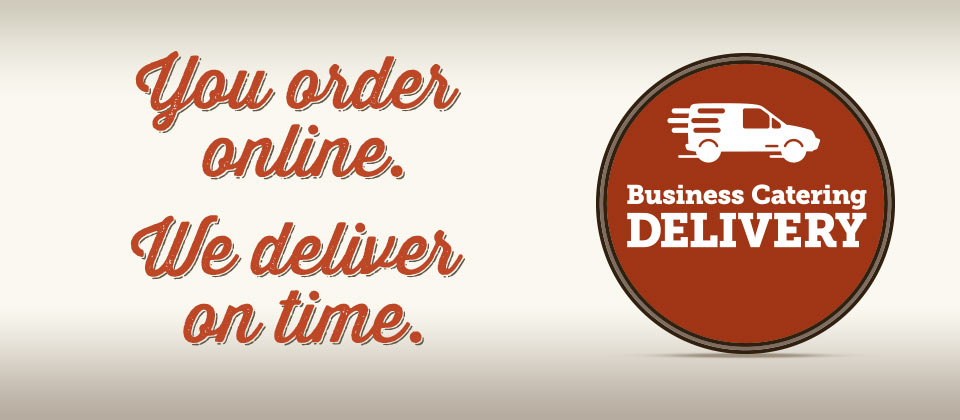You order online. We deliver on time. Specialty's Business Catering.