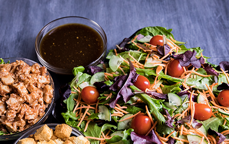 Mixed Greens with BBQ Chicken