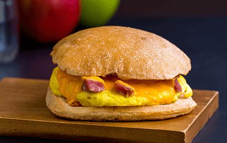Diced Ham, Egg & Cheddar
