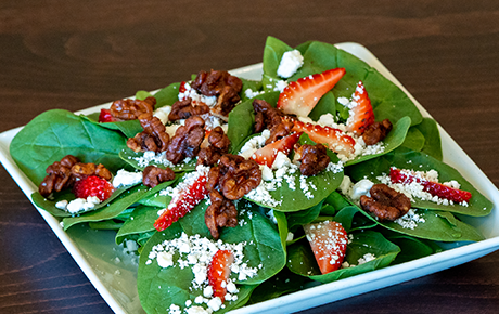 Spinach Berry Goat Cheese