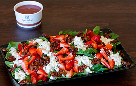 Spinach Berry Goat Cheese Salad Platter