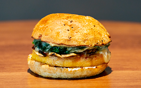 Spinach & Mushroom Breakfast Sandwich