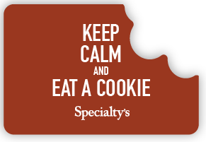 Keep calm and eat a cookie logo