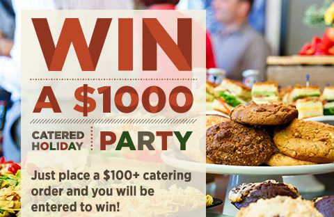 Win a $1,000 catered holiday party.