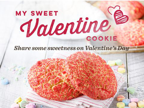 Share some sweetness on Valentine's Day.